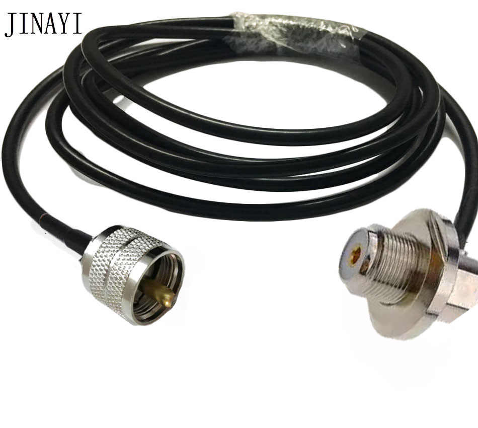 SMA Male to SO239 UHF Jack Right Angle for car Radio Mobile Antenna Mount RG58 Cable 16FT Quick USA Shipping