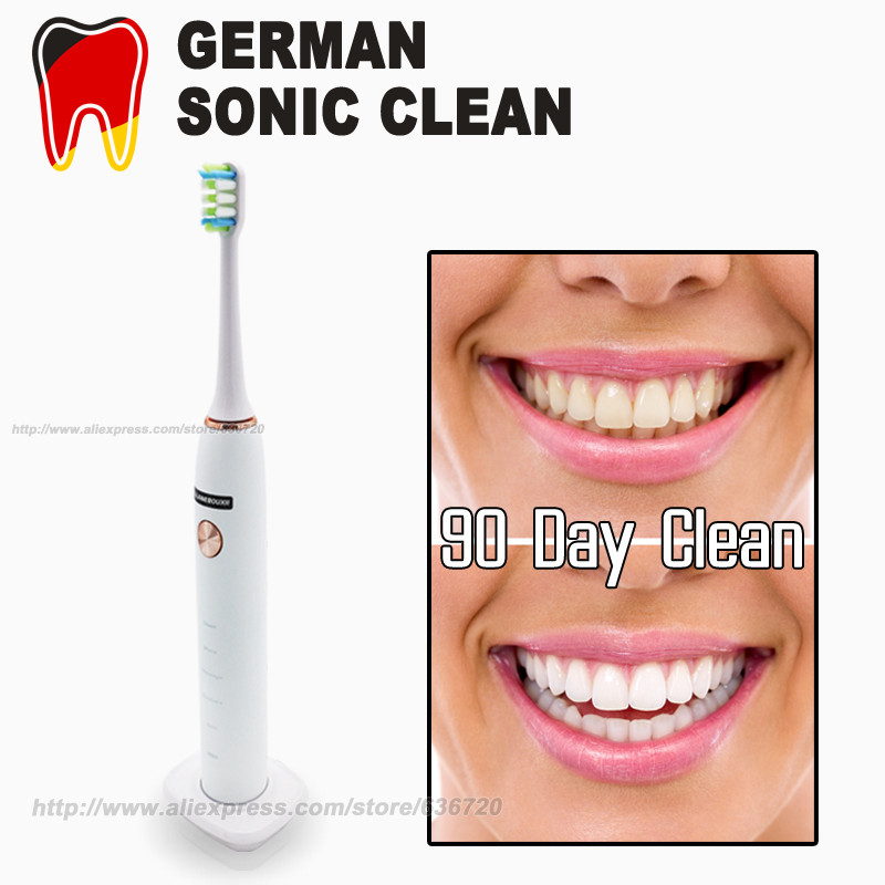 Sonic Electric Toothbrush Can whiten Clean our teeth Wireless USB charging , White & Rose Gold Sonic Electric Toothbrush image