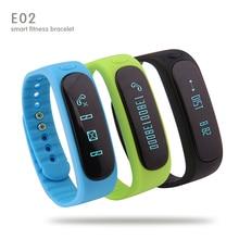E02 Smartband Здоровья фитнес-трекер Браслет Спорта Водонепроницаемый Браслет для IOS Андроид fitbit flex Bluetooth 4.0 отображения времени