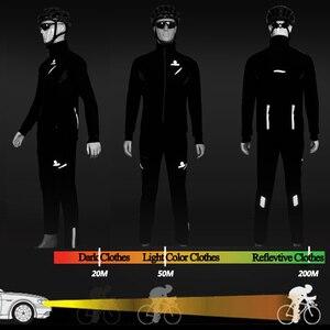 Image 4 - X TIGER 冬フリースサーマルサイクリングジャケットコート反射自転車服セットスポーツウェア防風 Mtb 自転車ジャージ服