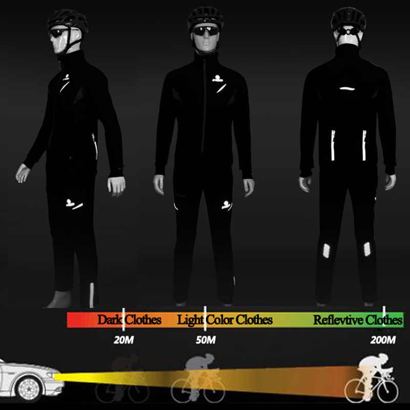 X-TIGER Winter Fleece Thermische Radfahren Jacke Mantel Reflektierende Fahrrad Kleidung Set Sportswear Winddicht MTB Fahrrad Trikots Kleidung