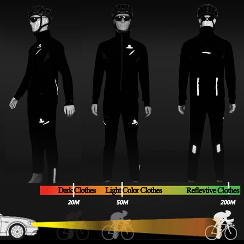 X TIGER hiver polaire thermique cyclisme veste manteau réfléchissant vélo vêtements ensemble vêtements de sport coupe vent vtt vélo maillots vêtements - 4