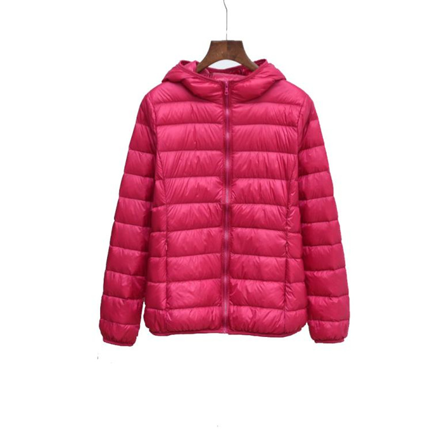 Winter Hooded   Coats   Light Thin White Duck   Down   Jackets Big Size Women   Down   Jacket Short Paragraph   Down     Coat   Female Jackets WZ541