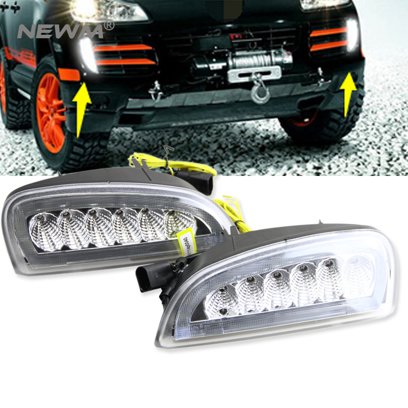 Car Styling Clear LED Daytime Running Lights Turn Signal Lamp for 2007 2008 2009 2010 Porsche Cayenne