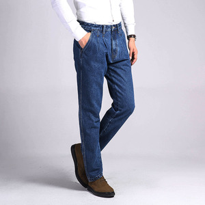 Image 3 - TIGER CASTLE Mens 100% Cotton Thick Jeans Denim Pants Fashion Blue Baggy Male Overalls Classic Long Quality Spring Autumn Jeans