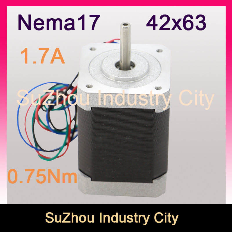 CNC Nema 17 CNC stepper motor 42x63mm 1.5A 0.75N.m for sale 1.8deg 107Oz-in stepping motor For CNC machine 3D Printer hot product 3d cnc machine for sale