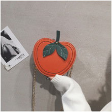 New Cute Apple Shape Girl Shoulder Bag PU Leather Women Handbag Fashion Mini Fresh Color Female Crossbody Bag