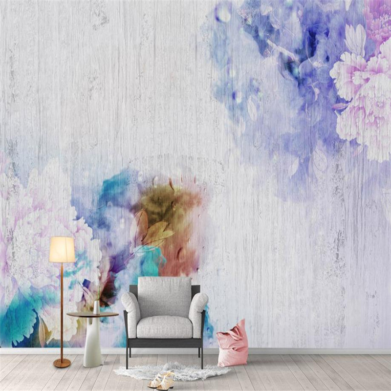 3 d Wall Mural Flower Wallpaper Custom Wall Picture Living Room Bedroom Decor Photo Wallpaper Abstract Water Painting Wall Mural custom mural wallpaper 3d stereoscopic relief peony jewelry flower wall painting study bedroom living room decor photo wallpaper