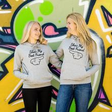 Sugarbaby She is my best friend hoodie Matching hoodies Bestie Hoodie Bff Clothing Long Sleeve Fashion Hoody drop ship