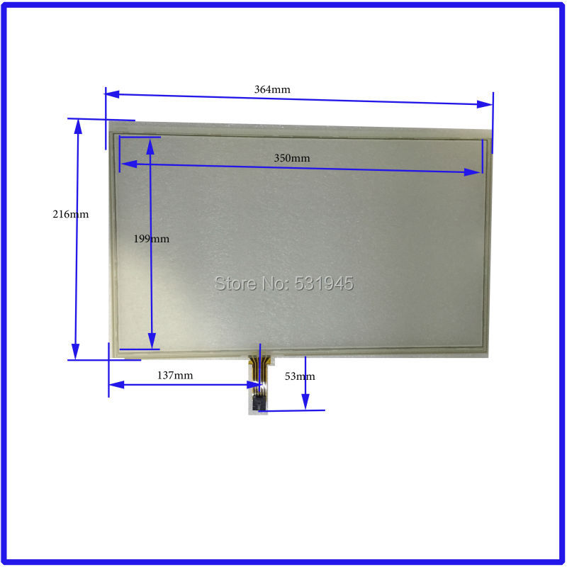 NEW Touch Screen 364mm*216mm 15.6inch glass 364*216 for TABLE and computer commercial use
