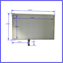 НОВЫЙ Сенсорный Экран 364 мм * 216 мм 15.6 дюйма стекло 364*216 для СТОЛА и компьютера коммерческого использования
