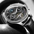 Мужские механические часы Tourbillon, роскошные модные брендовые кожаные мужские спортивные часы, мужские автоматические часы, мужские часы ...