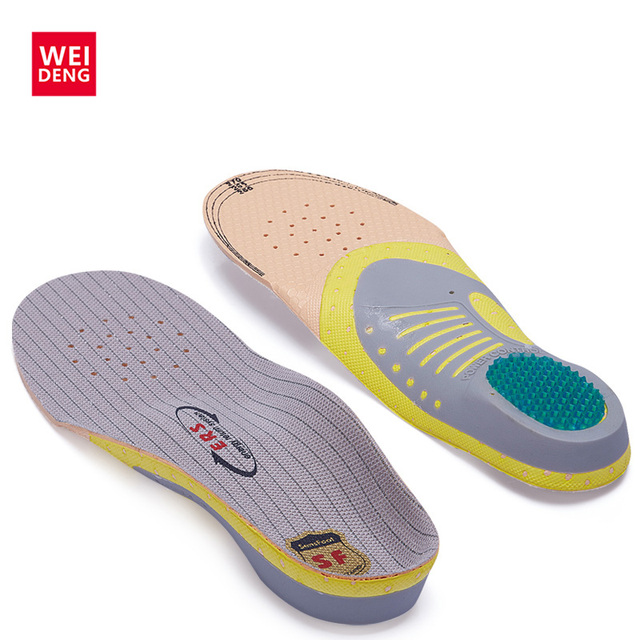 EVA Silica Gel Men Insoles Shock Absorber Soft Honeycomb Gel Comfortable Light Against Stench Breathable Golf Sport Shoe Pad Mat
