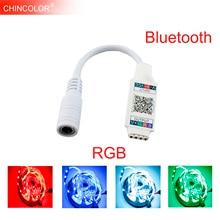 WiFi Bluetooth Âm Nhạc RGB Điều Khiển DC5 24V Mini Thông Minh Ánh Sáng Dải Điều Khiển Mờ Cho 5050 3528 RGB LED Strip Tape Mới IL