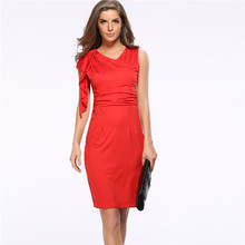 Großhandel Neue Sommer Weiß Rot V-ausschnitt Abendgesellschaft Kleid Sexy Sleeveless Frauen Bodycon Kleider Plus XXXL