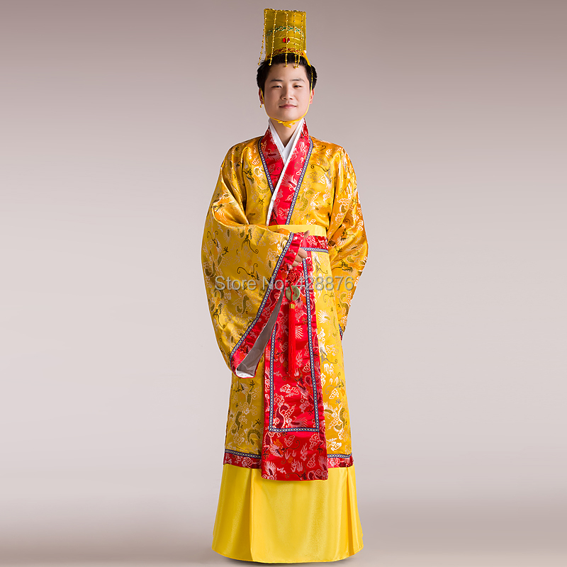 New 2018 Tang Costume Robes Adult Ancient Clothes Hanfu Clothes  Emperor  Costume Hair Accessory Chinese Ancient  Hanfu