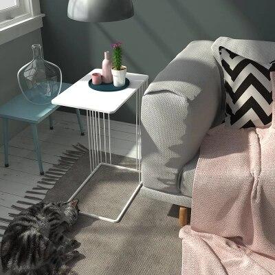Nordique u-type métal fleur moderne salon canapé créatif en fer forgé côté table basse - 3