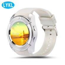 LYKL Bluetooth V8 Смарт-часы Smartwatch часы Call SIM TF Камера часы Поддержка BT 4,0 для Android круглые часы Для женщин /Для мужчин телефон