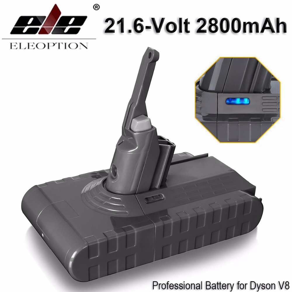 ELEOPTION 2PCS High Quality 21.6V 2800mAh / 60.48Wh Li-ion Rechargeable Battery Pack For Dyson V8 Series цена