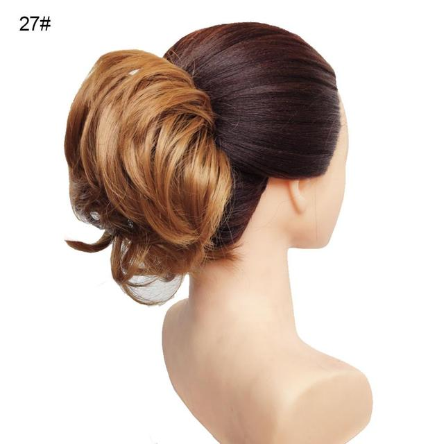 Jeedou Natural Chignon Synthetic Hair Rubber Band Donut Two