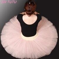 Free Shipping Nude Half Ballet Tutu For Girls Women Pancake Tutu Ballet Costumes Girls Ballerina DressBT8923