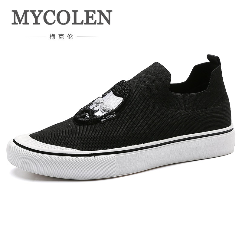 MYCOLEN 2018 Hot Sale Spring/Autumn Breathable Soft Shoes Comfortable Men's Casual Shoes Fashion Footwear Men Shoes Buty micro micro 2017 men casual shoes comfortable spring fashion breathable white shoes swallow pattern microfiber shoe yj a081