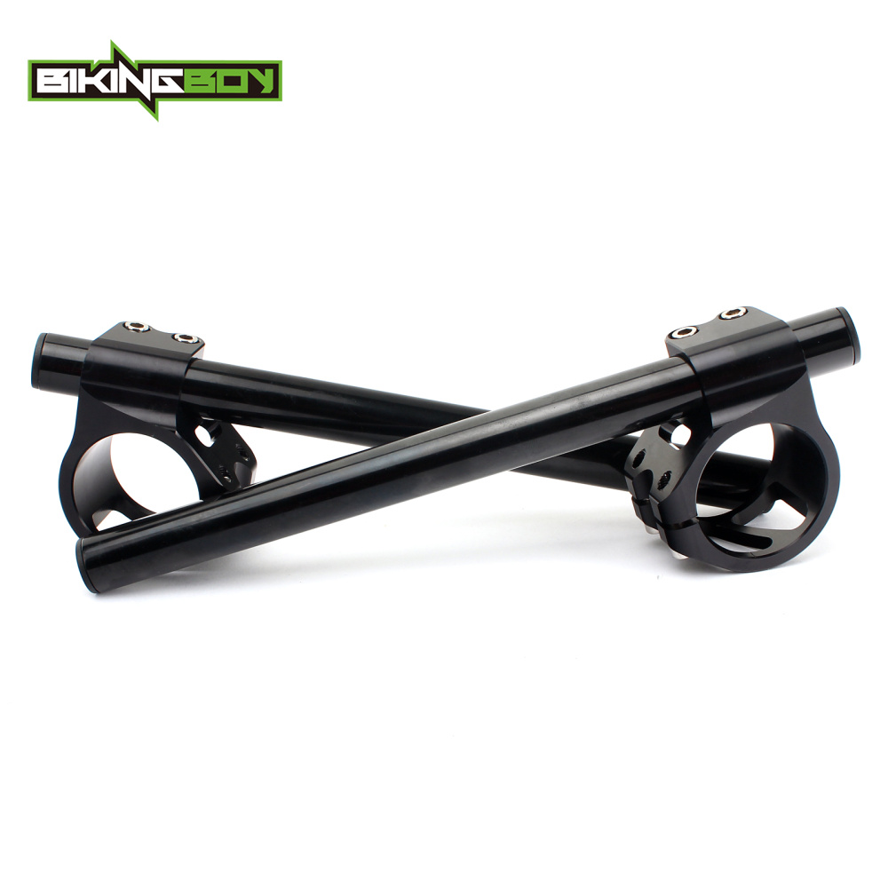 BIKINGBOY 43mm Clip Ons Handlebar For HONDA CBR 600 F4i Sport F4 SuperSport CBR 1100 XX Blackbird 97 03 VFR 750 F lnterceptor