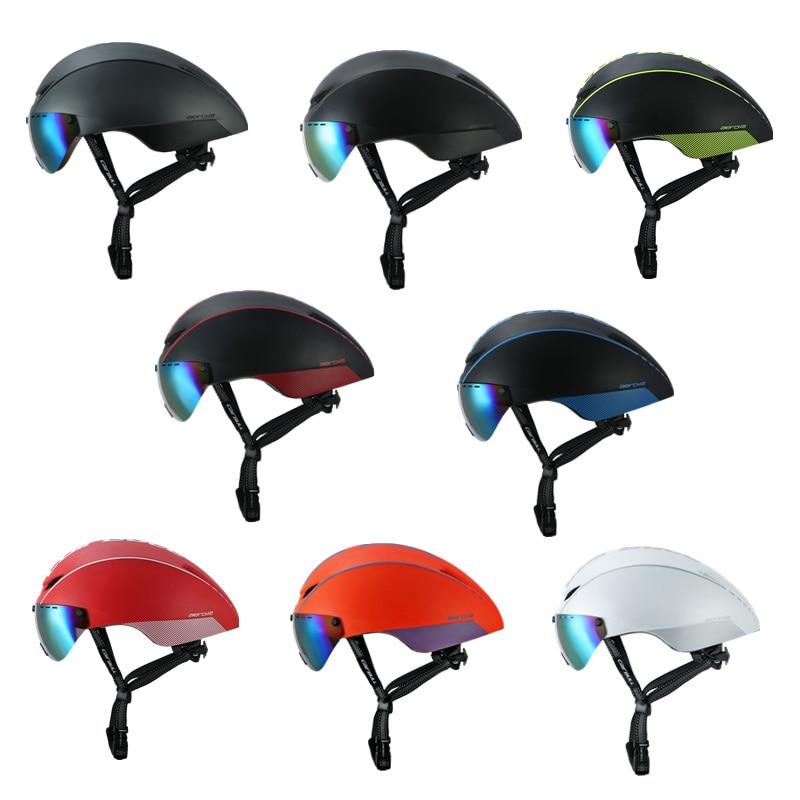 CAIRBULL AERO-R1 Cycling Helmet Magnetic Goggles Bike Bicycle Helmet Road Mountain MTB Pneumatic TT Helmets Casco Ciclismo Cap