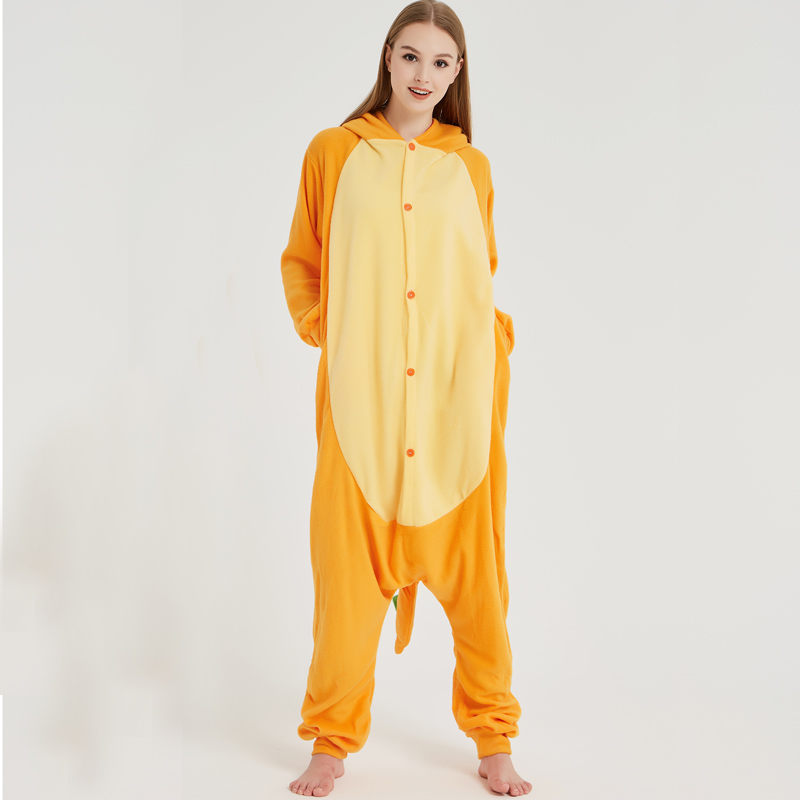 Pokemon Charizard Onesie Adult Women Men Pajamas Cartoon Animal Charmander Dragon Costume Party Winter Warm Cute Pyjama Sleep (3)