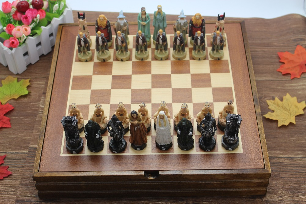 Chess Set Resin 36*36*6 CM Child Game Lord of the Rings Series Mold Classic International Chess Set Cartoon Chess Set Board Game secrets of the russian chess master – fundamentals of the game v 1