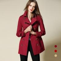 Clearanc Discount BURDULLY Trench Coat For Women European British Style Leisure Duster Coat plus Fashion Women's Coats Women