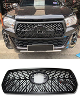 цена на ODM OWN DESIGN MODIFIED BUMPER FRONT RACING GRILL GRILLS black MASK FIT FOR HILUX ROCCO auto grille 2018 pickup car accessories