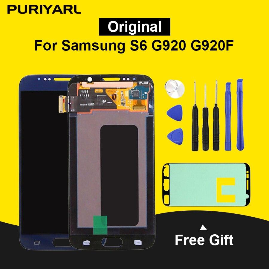 Original Pantalla LCD Pour Samsung Galaxy S6 G920 G920F LCD Écran Tactile de Remplacement Pour Samsung S6 Écran Super AMOLED
