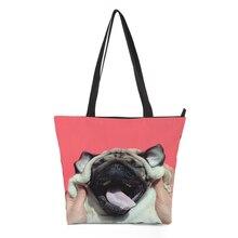 CROWDALE 2018 Large Capacity Women Bags Shoulder Famous Designers Painted pattern Handbags Canvas bag Animal series