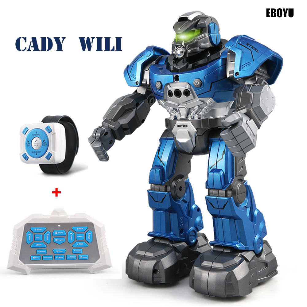 JJR/C JJRC R5 Cady Wili RC Robot Auto Follow Robot with Smartwatch Control Intelligent RC Robot Remote Control Toy for Kids