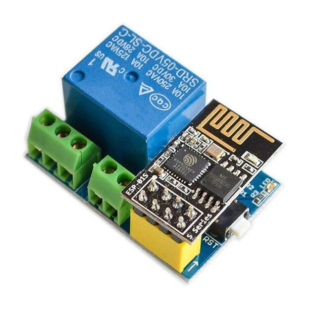 ESP8266 ESP 01S 5V WiFi Module Relay Điều Nhà Thông Minh Điều Khiển Từ Xa Cho Arduino Ứng Dụng Điện Thoại ESP01S WIFI mô Đun