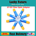 Free Shipping ST Female To SC Male Singlemode Simplex Fiber Optic Hybrid Adapter