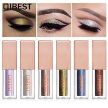 Qibest Hot Glitter Eyeshadow Metallic Eye Shadow Liquid Waterproof Long Lasting Eyes Makeup Cosmetics 15 Color Liquid Eyeshadow цена