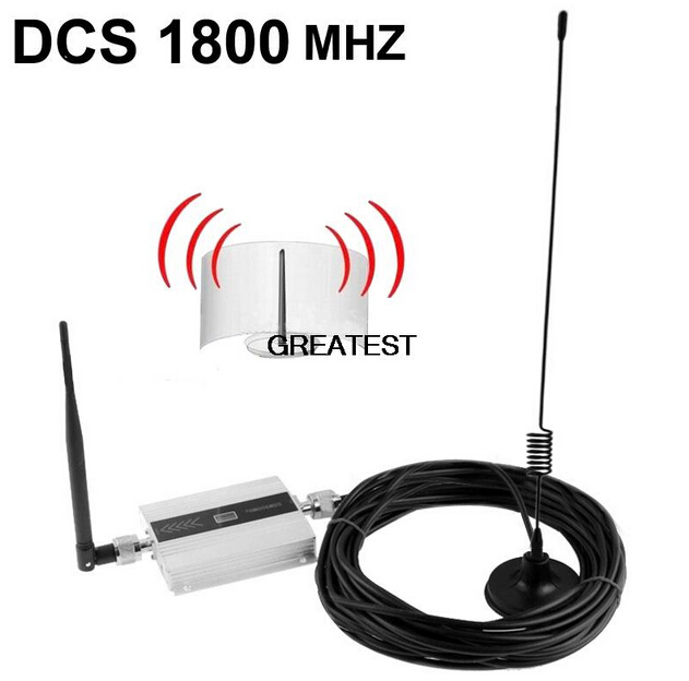 1Set 4G DCS Booster 1800MHz DCS Signal Booster Amplifier Repeater Omni Direction Cell Phone Amplifier With 10M Cable + Antenna
