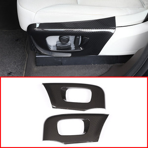 Carbon Fiber For Land rover Discovery 5 L462 LR5 2017-19 ABS Car Seat Side Cover Trim For Range Rover Velar RR Sport 2018 2019(China)
