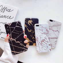 Cracked Gold Marble Phone Case For iPhone XR XS MAX 7 8 Plus X 6 6S Plus Phone Back Cover Soft TPU IMD Cases Silicone Coque Gift цена и фото