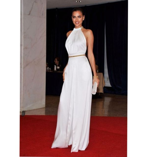 Prom Dresses White Pants Long For Women Formal Evening Simple Elegant Celebrity Gown