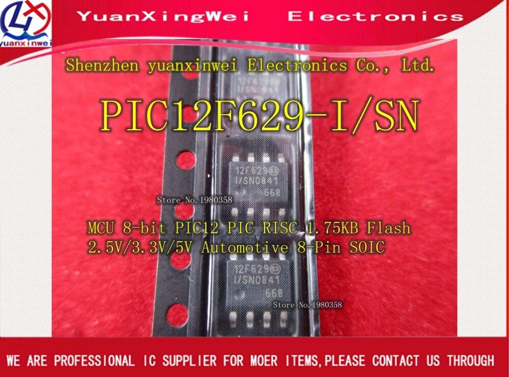 Free shipping 100pcs lot PIC12F629 I SN PIC12F629 12F629 I SN 12F629 MCU 8BIT 1 75KB