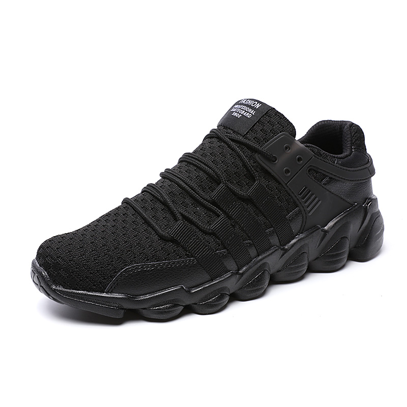 2017 Mens Trainers Sneakers Running Shoes Comfortable Sport Sneakers Black White Jogging Shoes Men Big Size Athletic Sneakers