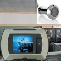 Yüksek Çözünürlük 2.4 inç LCD Monitör Görsel Kapı Video Peephole Peep Delik kablolu Görüntüleyici Kapalı Monitör Açık Video Kamera DIY
