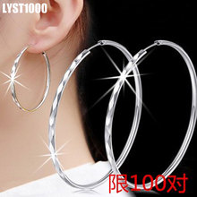 LYST1000 Jewelry Wholesale Fashion 925 Sterling Silver  Drop Earring For Women Punk Big Personality Circle Earrings