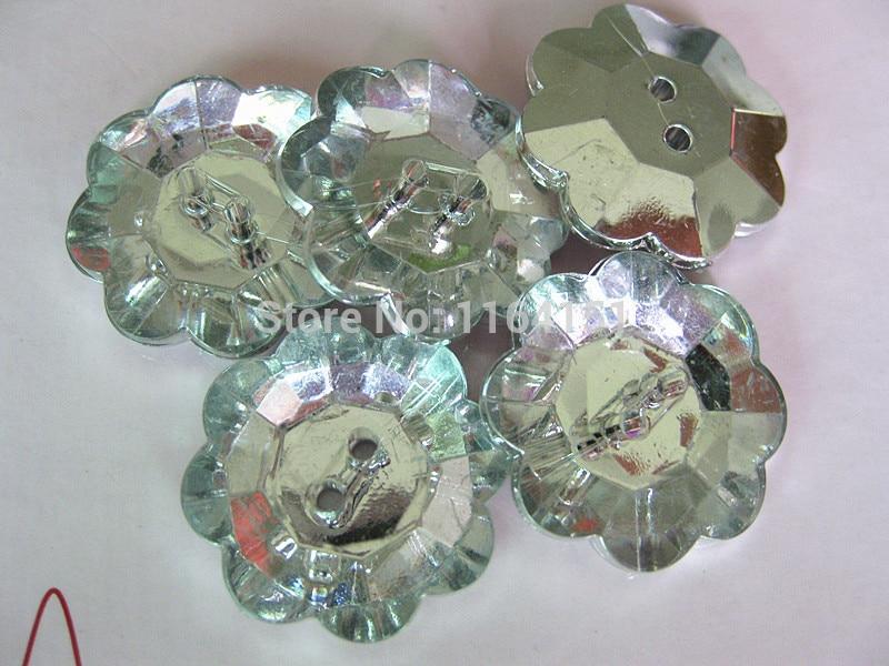 9d077d433272 ᗑ】100 unids transparente acrílico Rosa botones sueltos 13mm Botón ...