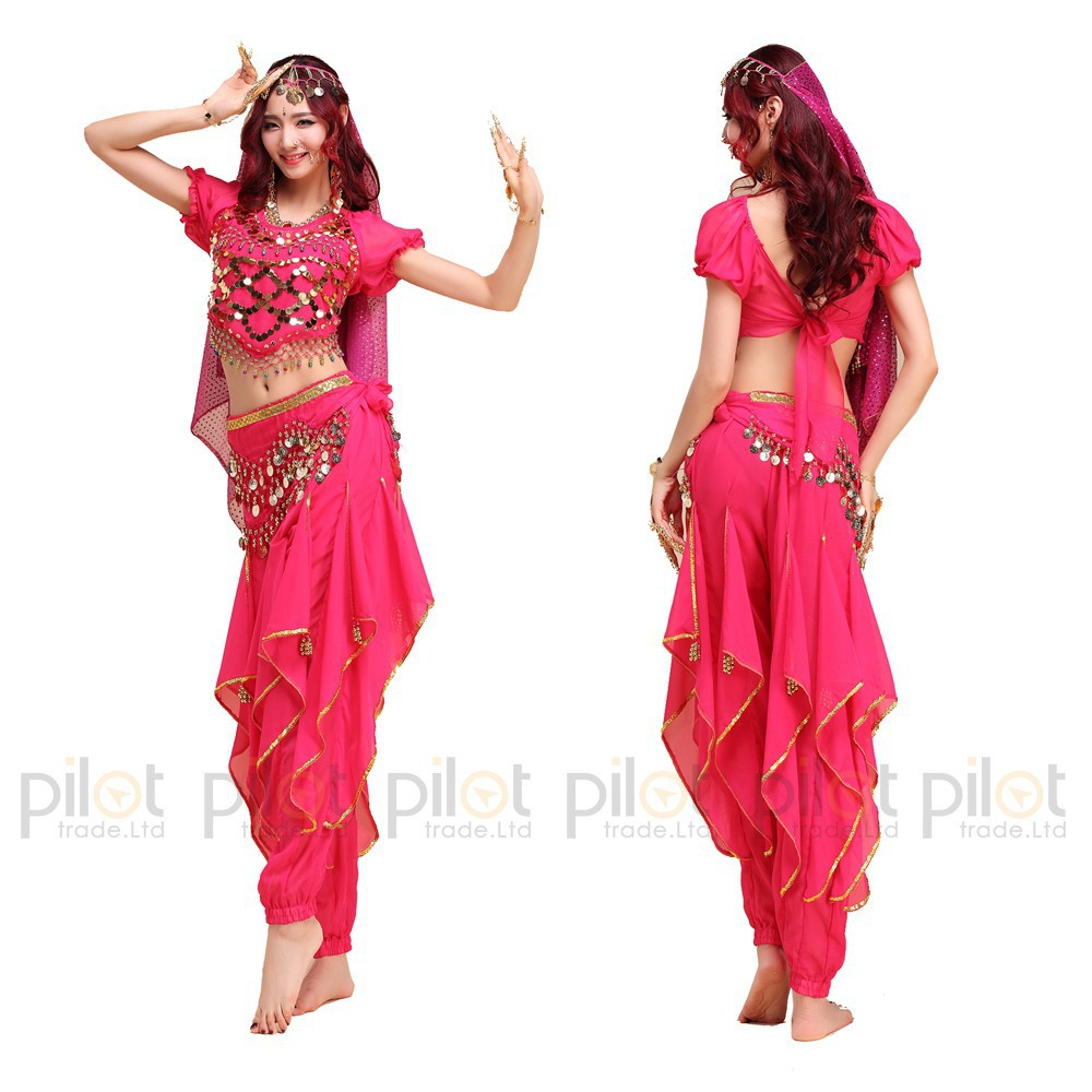 f412cf899 2016 NEW Arrival Oriental Dance Costumes Bollywood Indian Dress 3PCS Belly  Dance Vestido Suit For Women 6 Colors