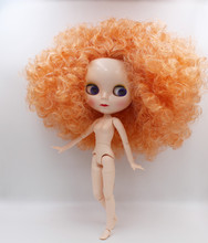 Blygirl Blygirl,Blyth dolls, orange burst curls, 19 and 7 joints new normal shell, 1/6 nude dolls