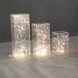 Image 4 - Wedding party stage table centerpieces backdrop Acrylic transparent road lead crystal folding column flower stand decorations